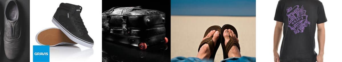 Gravis Shoes, Skateboards, Sandals & Backpacks