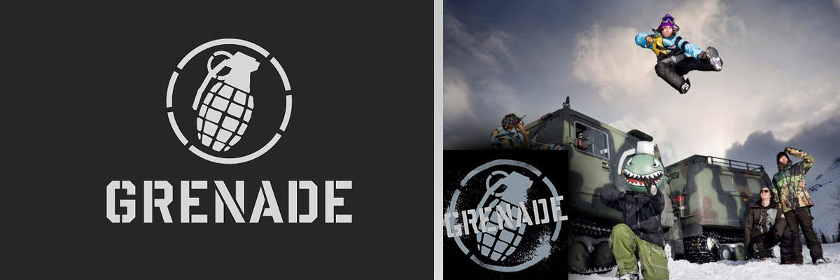 Grenade Snowboard Clothing, Jackets, Pants, Gloves, Mitts, Hoodies, T-Shirts, Shoes