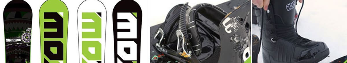 Morrow Snowboards, Snowboard Boots & Bindings