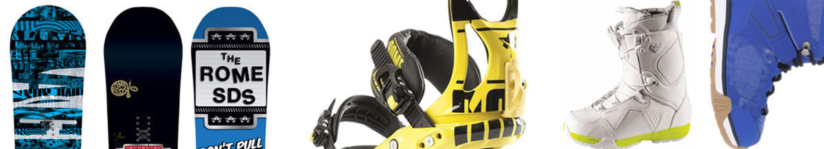 Rome Snowboards, Snowboard Boots, Bindings