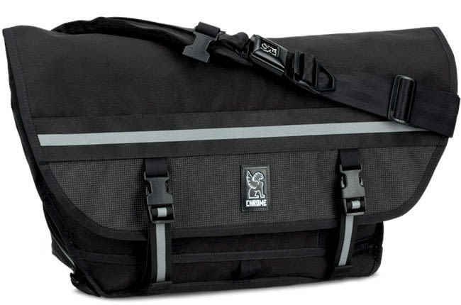 Chrome Citizen Night Series Messenger Bag Black 26L