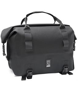 Chrome Knurled Welded Front Rack Duffle Bike Bag Black/Black 40L
