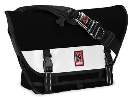 Chrome Mini Metro Messenger Bag Black/White 20.5L