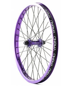 Cinema 333 Front BMX Wheel Purple Anodized 20