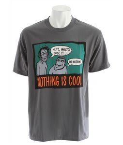 Circa Blockhead Nothing Is Cool T-Shirt Charcoal