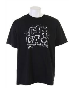 Circa Dripples Icon T-Shirt Black