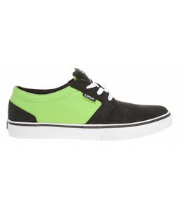 Circa Hesh Skate Shoes Black/Green Flash