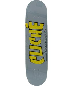 Cliche Banco Skateboard Grey/Yellow 8.0 x 31.8in