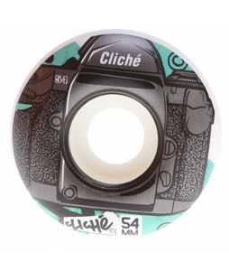 Cliche Lenses Skateboard Wheels Black/Teal 54mm