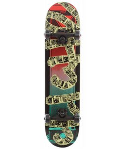 Cliche Pola Skateboard Complete Black/Red 7.5