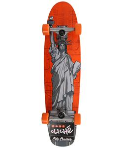 Cliche Statue Of Liberty Longboard Complete Grey/Orange