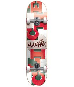Cliche Uppercase Skateboard Complete White/Red 7.7in