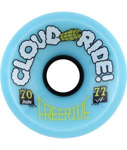 Cloud Ride Freeride 77A Skateboard Wheels Blue 70mm