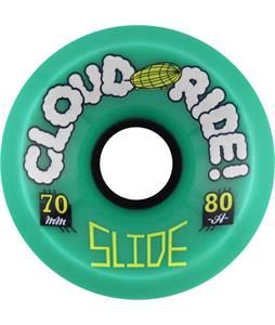Cloud Ride Freeride 80A Skateboard Wheels Blue 70mm
