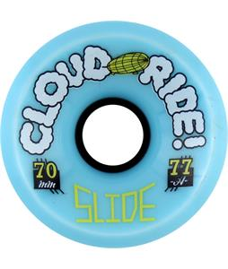 Cloud Ride Slide 77A Skateboard Wheels Blue 70mm