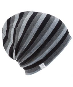 Coal FLT Stripe Beanie Black