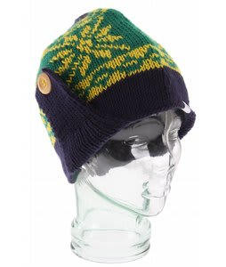 Coal Mckenzie Flap Beanie Navy