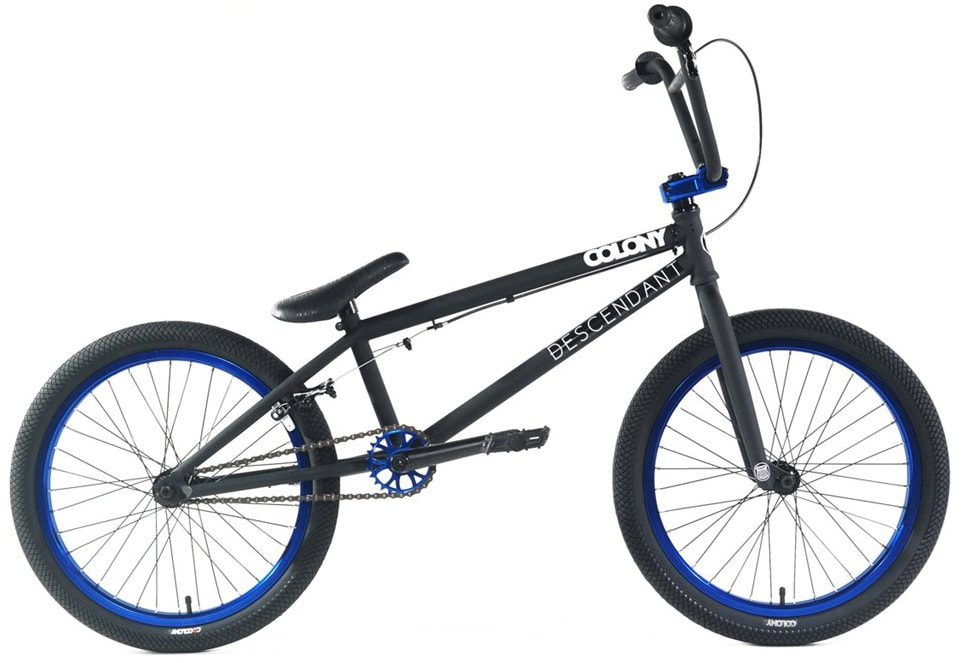 Shop for Colony Descendent BMX Bike Matte Black/Blue 20""