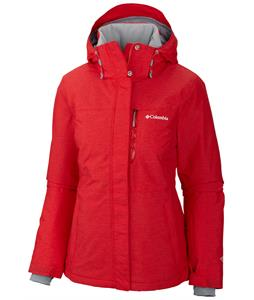 Columbia Alpine Action Ski Jacket Red Hibiscus/Crossdye/Bright Red Zip