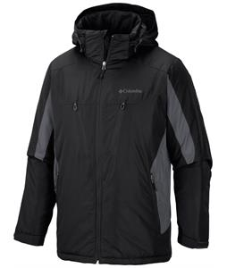 Columbia Antimony IV Ski Jacket Black/Graphite/Black Front Zip