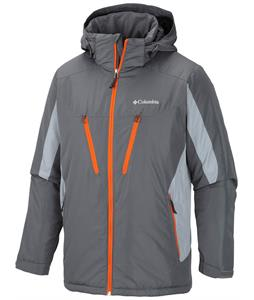 Columbia Antimony IV Ski Jacket Graphite/Tradewinds Grey/Backcountry Orange Zips