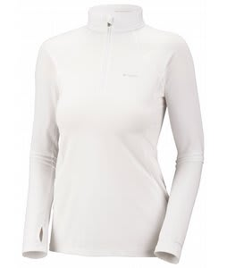 Columbia Baselayer L/S 1/2 Zip Top White