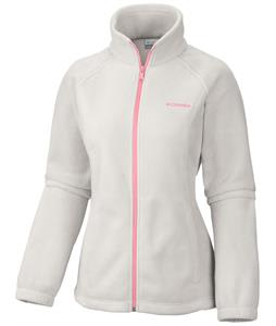 Columbia Benton Springs Full Zip Fleece Sea Salt/Coral Glow Zip & Logo