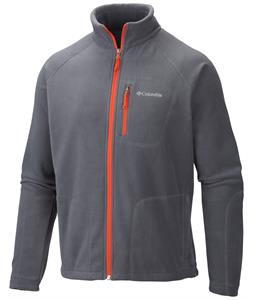 Columbia Fast Trek II Full Zip Fleece Graphite/State Orange