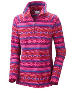 Columbia Glacial III Print 1/2 Zip Baselayer Top Dark Raspberry Fairisle Print/Dark Raspberry