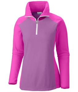 Columbia Glacial III 1/2 Zip Baselayer Top Blossom Pink/Groovy Pink/White Zip