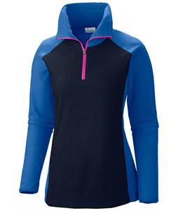 Columbia Glacial III 1/2 Zip Baselayer Top Collegiate Navy/Harbor Blue/Groovy Pink Zip
