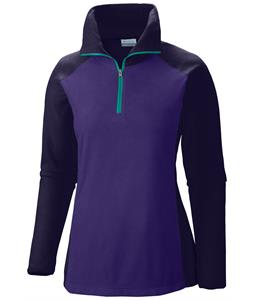 Columbia Glacial III 1/2 Zip Baselayer Top Hyper Purple/inkling/Oceanic Zip