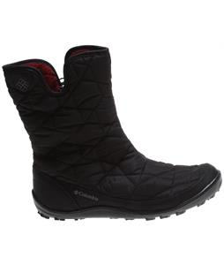 Columbia Minx Slip II Omni-Heat Boots Black/Red Plum