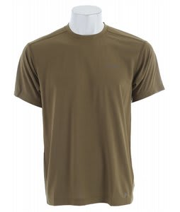Columbia Mountain Tech II Crew Base Layer Shirt Olive Brown