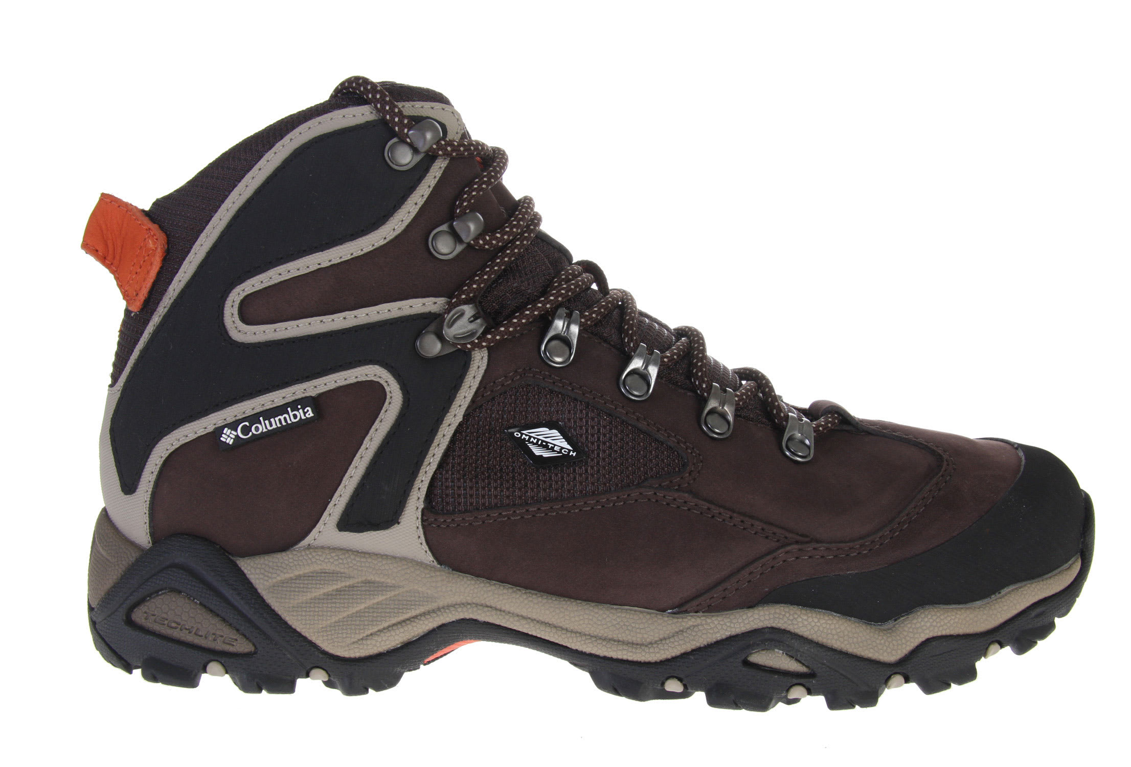 Shop for Columbia Pole Creek Omni Tech Hiking Shoes Stout/Burnt Orange - Men's