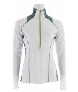 Columbia Solar Polar 1/2 Zip Top White/Metal/Chartreuse