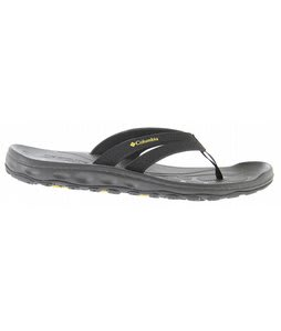 Columbia Techsun Flip Sandals Black/Green Sheen