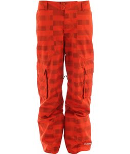 Columbia Tree Grinder Ski Pants Autumn Orange/Lumberjack Plaid