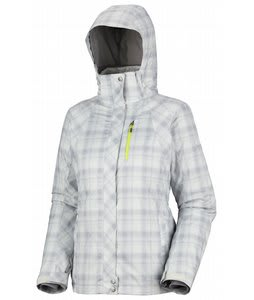Columbia Whirlibird Interchange Ski Jacket Sea Salt Printed Plaid/Neon Light