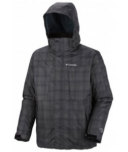 Columbia Whirlibird II Interchange Ski Jacket Black Plaid