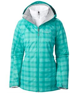 Columbia Whirlibird Ski Jacket Oceanic Plaid Print