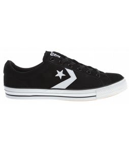 Converse Star Player LS OX Skate Shoes Black/White