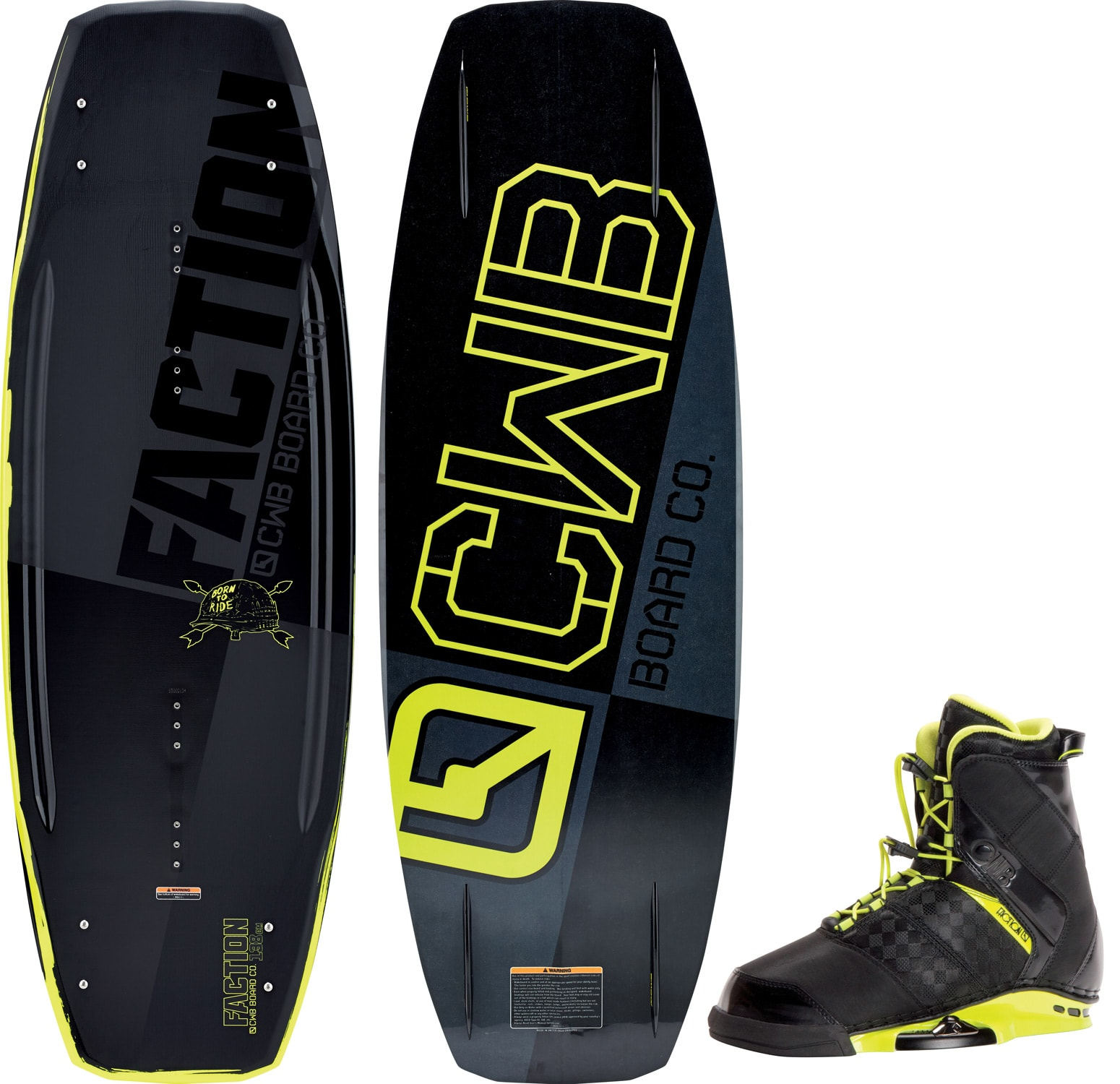 Wakeboards For Sale >> CWB Faction Wakeboard w/ Faction Bindings