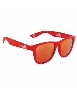 Neff Daily Sunglasses Red Soft Touch Lens