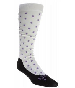 Dakine Star Snowboard Socks White
