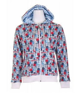 Dakine Vista Zip Hoodie White Posies