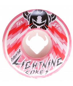 Darkstar Bolt Marble Lighning Core Skateboard Wheels White/Red 54mm