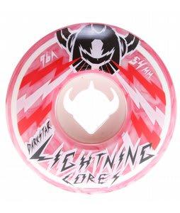 Darkstar Bolt Marble Lighning Core Skateboard Wheels White/Red 54mm