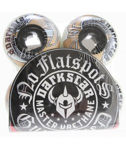 Darkstar Icon Dual Duro Skateboard Wheels Black/White 50mm