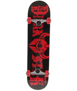 Darkstar Ruin Skateboard Complete Black/Red